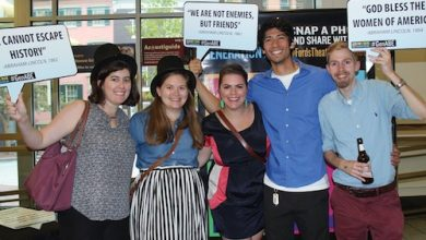 Millennials learn about Abraham Lincoln. (Courtesy of Ford's Theatre)