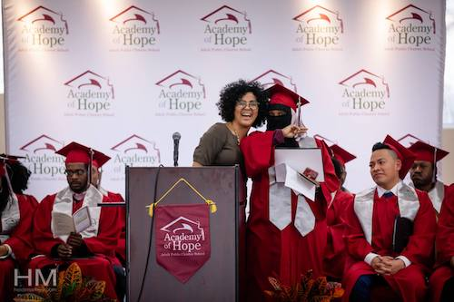 Graduation brings jubilation for second chance students. (Academy of Hope via Facebook)