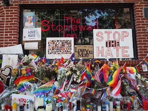The gay pride parade commemorating the 50th anniversary of the uprising at Stonewall Inn in New York City was held June 30. The series of LGBTQ riots sparked by police raids are considered to be the catalyst that led to the gay liberation movement. (Hunter Abrams/Stonewall Community Foundation)