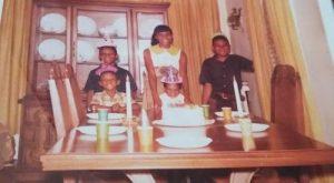 "A birthday celebration with the Stevens children ""back in the day"" (Courtesy of Lynetta Stevens)"