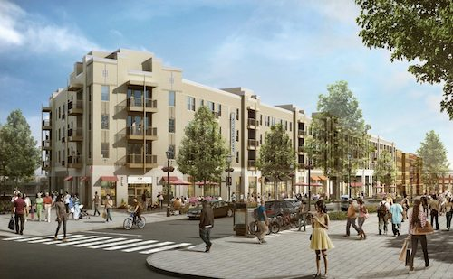Artist rendering of the Skyland Town Center (Courtesy of Rappaport Company)