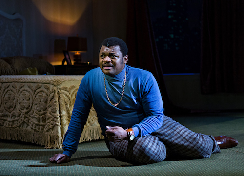"Kelvin Roston stars in ""Twisted Melodies"" at Baltimore Center Stage, in association with Congo Square Theatre Company, and now at the Mosaic Theater Company, housed at the Atlas Performing Arts Center in D.C. through July 21. (Courtesy of Baltimore Center Stage)"