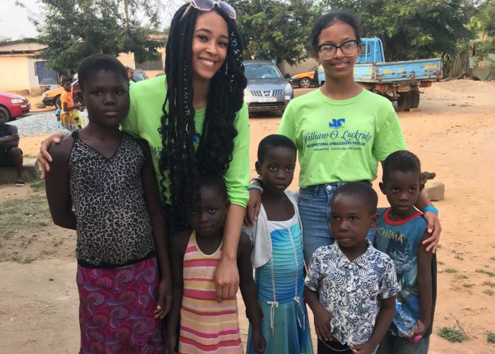 D.C. students Taleyah Evans and Jamerah Brown agreed their best part of the 10-day tour of was time spent with children living in the Atunkwa Village in Ghana's Central Region.