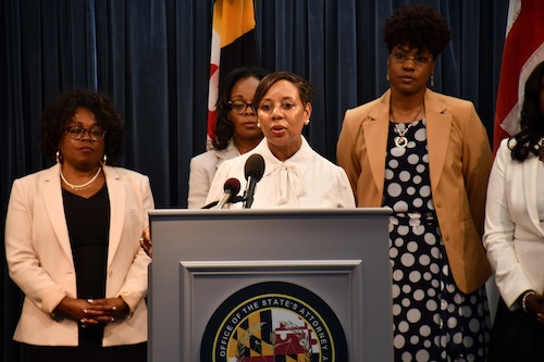 Prince George's County Public Schools CEO Monica Goldson speaks during a July 31 press conference in Upper Marlboro. Goldson will experience her first day of school as the school system's permanent leader next month. (Anthony Tilghman/The Washington Informer)