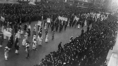 Women's Suffrage Parade, Delta Sigma Theta participants (Courtesy photo)