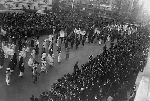 Women's Suffrage Parade, Delta Sigma Theta participants (Courtesy photo)