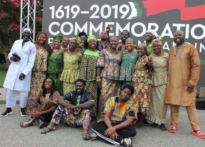 The D.C.-based Kankauran West African Dance Company performed during at the Commemoration of the First African Landing at Ft. Monroe on Aug. 24. (DR Barnes/The Washington Informer)
