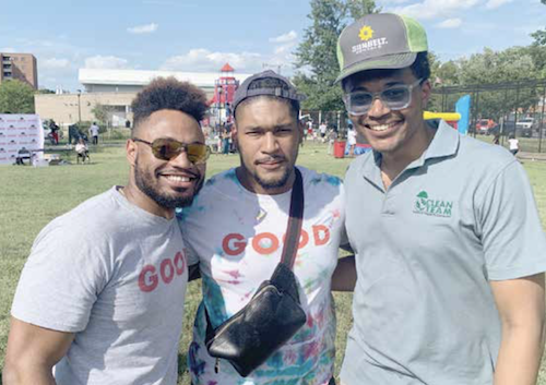 GOODProjects founders Darius Baxter, Troye Bullock and Danny Wright (Hamil R. Harris/The Washington Informer)