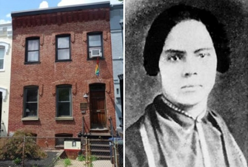 Mary Ann Shadd Cary and the historical house in D.C. (National Park Service)