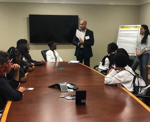 "Derek Petit, a Wiley Rein associate who has long been involved with ""Summer Law Day,"" helped facilitate the TMA partnership with Howard University's Law School. (Courtesy of TMA)"