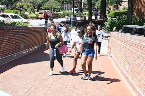 Incoming freshman at Howard University in Northwest kick off their school year with an event at Andrew Rankin Memorial Chapel on Aug. 11. (Roy Lewis/The Washington Informer)