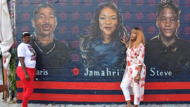 Photo of Mural Depicting Slain Youth Elicits Tears of Sorrow