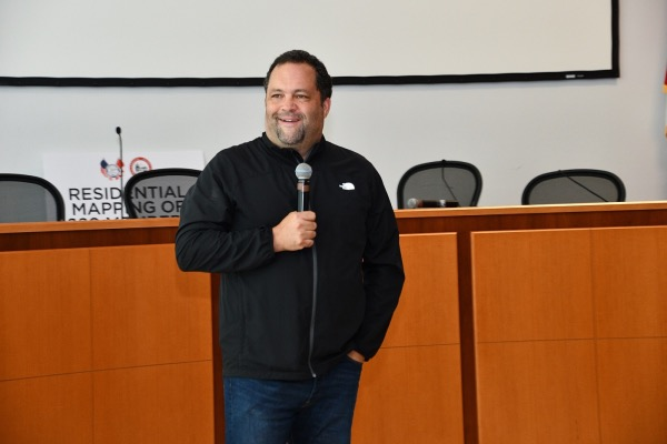 Former Maryland gubernatorial candidate Ben Jealous gives the keynote speech at a Progressive Maryland discussion on criminal justice reform at ATU Local 689 headquarters in Forestville on Sept. 7. (Anthony Tilghman/The Washington Informer)