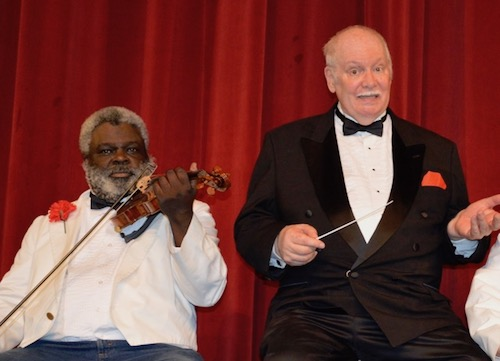 Violinist Rodney Allen and band Conductor Lynn Summerall (Photo by Dennis Lynch)
