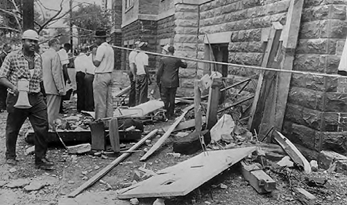 The 16th Street Baptist Church in Birmingham, Alabama, was bombed on Sept. 15, 1963, by four Ku Klux Klansmen. (Wikimedia Commons)