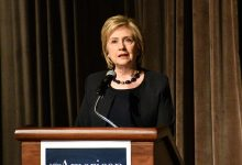 Photo of Hillary Clinton Headlines 'In Defense of American Democracy' Event