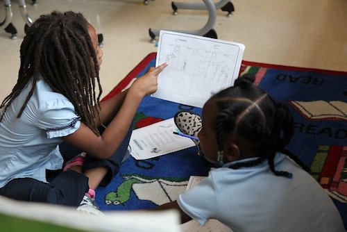 The staff of Moten Elementary School is implementing restorative justice practices so that every student has the support they need to thrive. (DCPS photo)