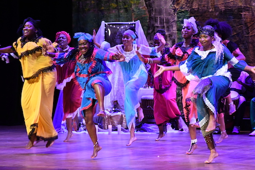 KanKouran Dance Company pays tribute to African religious deities and orishas during the company's annual concert at Lisner Auditorium in August. (Roy Lewis/The Washington Informer)