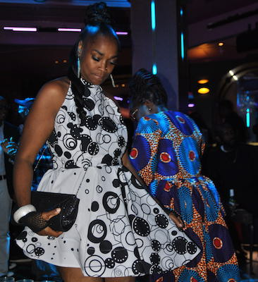 "Ankara, the popular fabric most identified with African culture, took center stage at Afropolitan DC's Sept. 6 kickoff to African Heritage Month on the ""Ankara Runway."" (Photo by Lili Iravani)"
