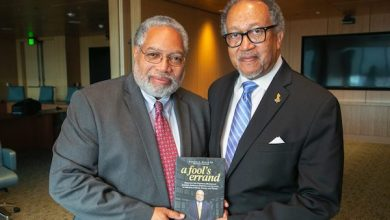 Lonnie Bunch III (left), secretary of the Smithsonian Institution, and National Newspaper Publishers Association President and CEO Benjamin F. Chavis Jr. (NNPA Newswire)
