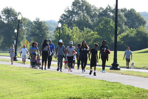 The Rho Mu Omega chapter of the Alpha Kappa Alpha Sorority Inc. (AKA) celebrated the completion of 18 consecutive Saturdays of walks at Anacostia Park on Aug. 31. The group started walking May 4 with a goal to improve health and wellness in the community and reduce the risk of heart disease. (Roy Lewis/The Washington Informer)