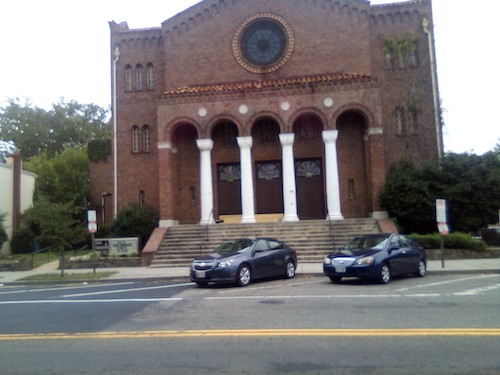 The historic Lincoln Temple UCC sits in a gentrifying area. (James Wright/The Washington Informer)