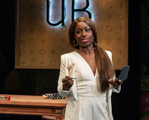 """Felicia Curry stars as Undine in the Mosaic Theater's production of Lynn Nottage's """"Fabulation, or the Re-Education of Undine,"""" now playing through Sept. 22. (Courtesy of mosaictheater.org)"""