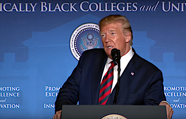 President Trump addresses the 2019 National Historically Black Colleges and Universities Conference in D.C. on Sept. 10.