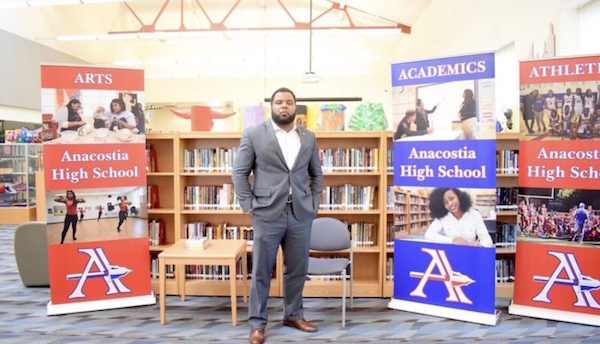 William Haith, a native Washingtonian who grew up in Anacostia, became principal of Anacostia High School in 2018. (DCPS photo)
