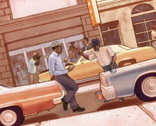 """A rendering of the poster for """"Jitney,"""" now playing at Arena Stage"""
