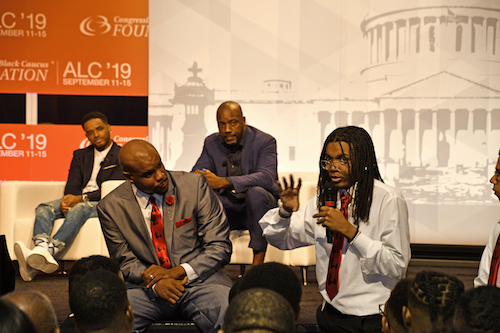 Generations combined for a town hall on the state of Black men and boys. (Anthony Tilghman/The Washington Informer)