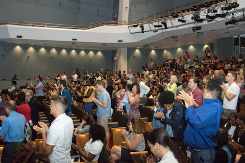 **FILE** Several hundred teachers attend the 2018 DC Public Schools new teacher orientation. (Shevry Lassiter/The Washington Informer)