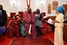 Photo of King Toffa IX of Porto-Novo, Benin, Visits Macedonia Baptist Church