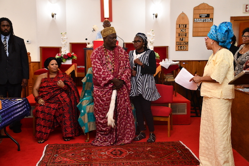 King Toffa IX of Porto-Novo in Benin at Macedonia Baptist Church in Bethesda, Maryland (Anthony Tilghman/The Washington Informer)