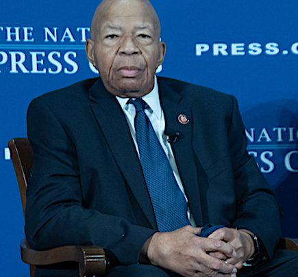 Rep. Elijah Cummings (D-Md.), seen here at the National Press Club in D.C. on Aug 7, 2019 (Shevry Lassiter/The Washington Informer)