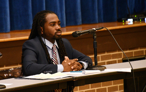 Ward 8 Council member Trayon White hosts a public safety roundtable discussion in southeast D.C. on Oct. 22. (Anthony Tilghman/The Washington Informer)