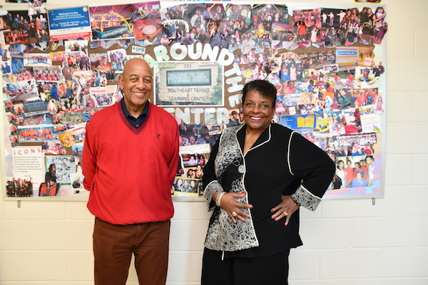 Board Chairman Michael Rogers and founder/CEO Cora Masters Barry (Anthony Tilghman/The Washington Informer)