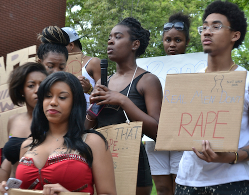 Students at prominent historically Black colleges and universities (HBCUs) demand that school administrators address sexual assault more vigorously. (Courtesy of HU News Service)