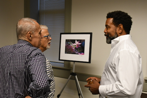 An artist talk and exhibit at the Thurgood Marshall Center for Service and Heritage (TMCSH) in Northwest on Sept. 27 allowed Marvin Bowser to expose his work beyond his circle of friends and supporters. (Roy Lewis/The Washington Informer)