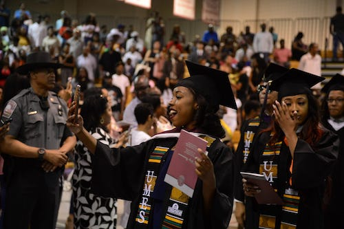A commencement celebration at the University of Maryland Eastern Shore (Courtesy of UMES)