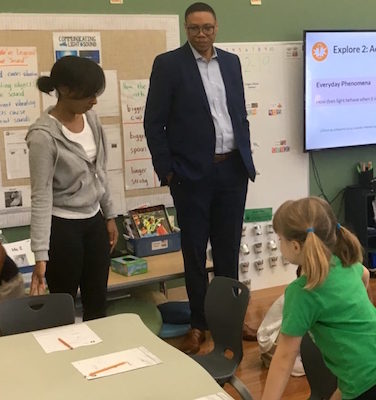 Ross Elementary School in northwest D.C. is one of five schools in the District recognized by the U.S. Department of Education as a 2019 National Blue Ribbon School. (DCPS photo)