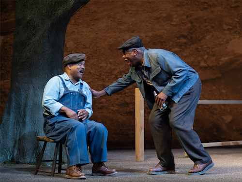 Doug Brown as Bono and Craig Wallace as Troy. (Courtesy photo/Scott Suchman, Ford's Theatre)