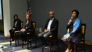 Photo of D.C.-Area Former, Present Leaders Discuss Issues