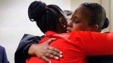 Mother of Botham Jean, Mrs. Allison Jean, embraces Judge Tammy Kemp. (Cheryl Smith/I Messenger Media L.L.C.)
