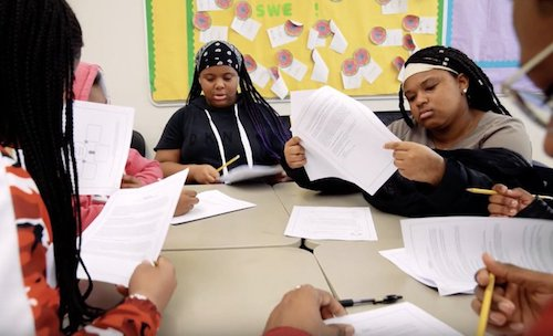 Students attend Saturday School at Stuart Hobson Middle School in Northeast. (DCPS photo)