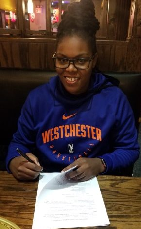 Lisa Willis, a former UCLA women's basketball team standout and WNBA veteran, recently made history becoming the first female coach in New York Knicks history. Her duties will include serving as an assistant coach for the Knicks' G League team – the Westchester Knicks. (Courtesy of Warren Doles)
