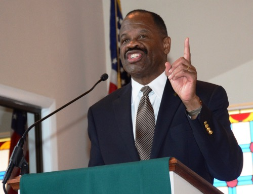 Blake D. Morant, former dean and a current professor at George Washington University Law School, delivers the message on Nov. 24 at Hughes Memorial United Methodist Church's Men's Day-Homecoming Service in D.C. (Courtesy of Hughes Memorial UM Church)