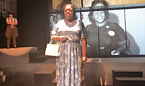 Roz White as Myrlie Evers (Photo courtesy of Restoration Stage, Inc.)