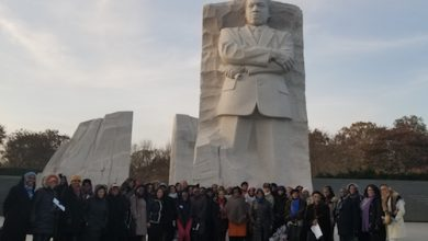 Participants in the Pan African Women of Faith Summit at the Martin Luther King Jr. Memorial in D.C. (Jacqueline Fuller/The Washington Informer)