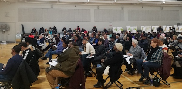 Prince George's County residents attend a public session to review proposed zoning maps at the Southern Regional Technology and Recreation Complex in Fort Washington on Nov. 23. (William J. Ford/The Washington Informer)
